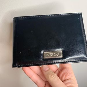Other - Black versace wallet leather